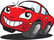 happy-mr-kleen-red-car